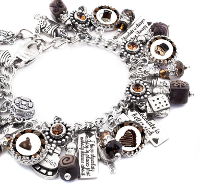 chocolate charms, chocolate bracelet