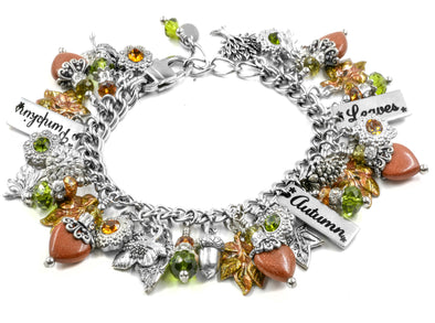 fall leaves bracelet