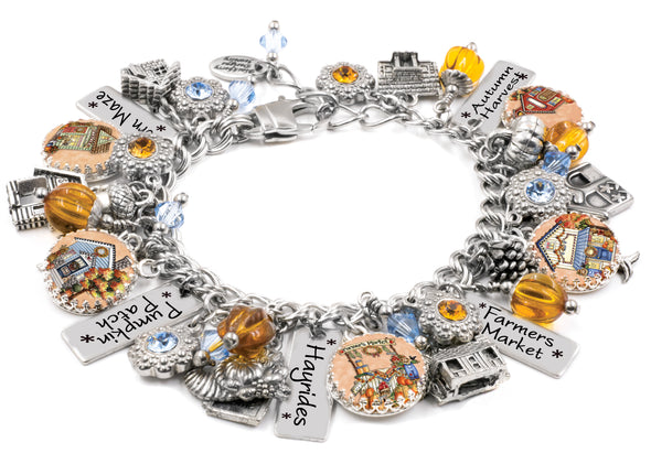 Harvest Lane Village, Autumn Charm Bracelet