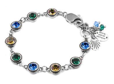 swarovski crystal bracelet gold green blue