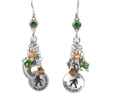bigfoot earrings yeti