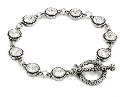 crystal birthstone bracelet for april birthday