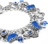 The Blue Velvet Heart, Charm Bracelet