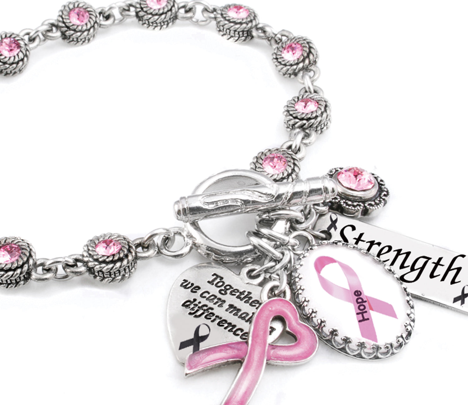 cervical pin survivor breast support encouragement bracelet jewelry cancer