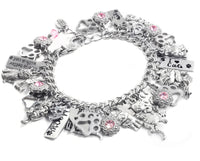 Personalized Cat Charm Bracelet