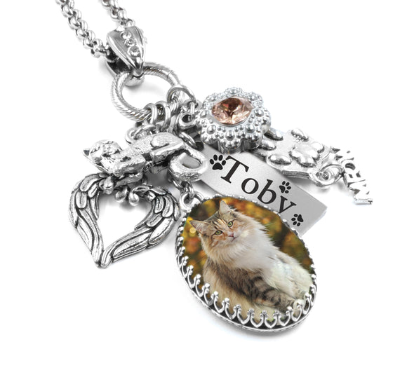 cat memorial necklace