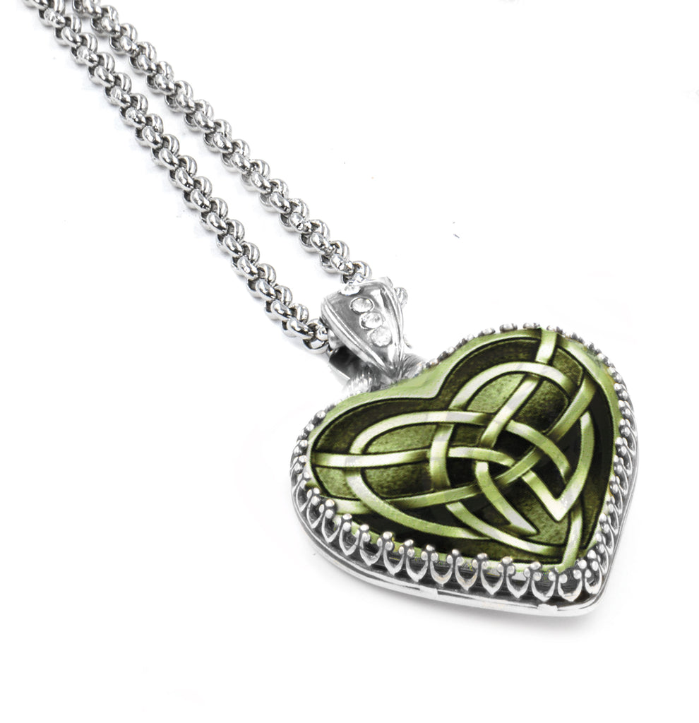 Celtic Necklace with Irish Love Knot Heart Pendant in