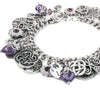Amethyst Bracelet with Celtic and Irish Knots