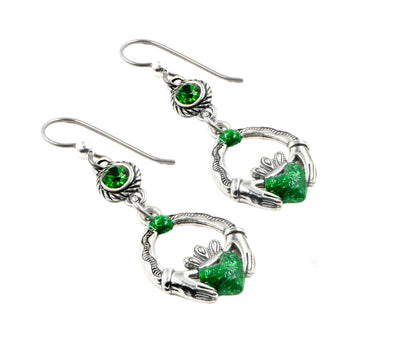 claddagh irish earrings
