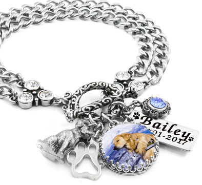 personalized dog photo bracelet