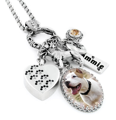 dog memorial charm necklace
