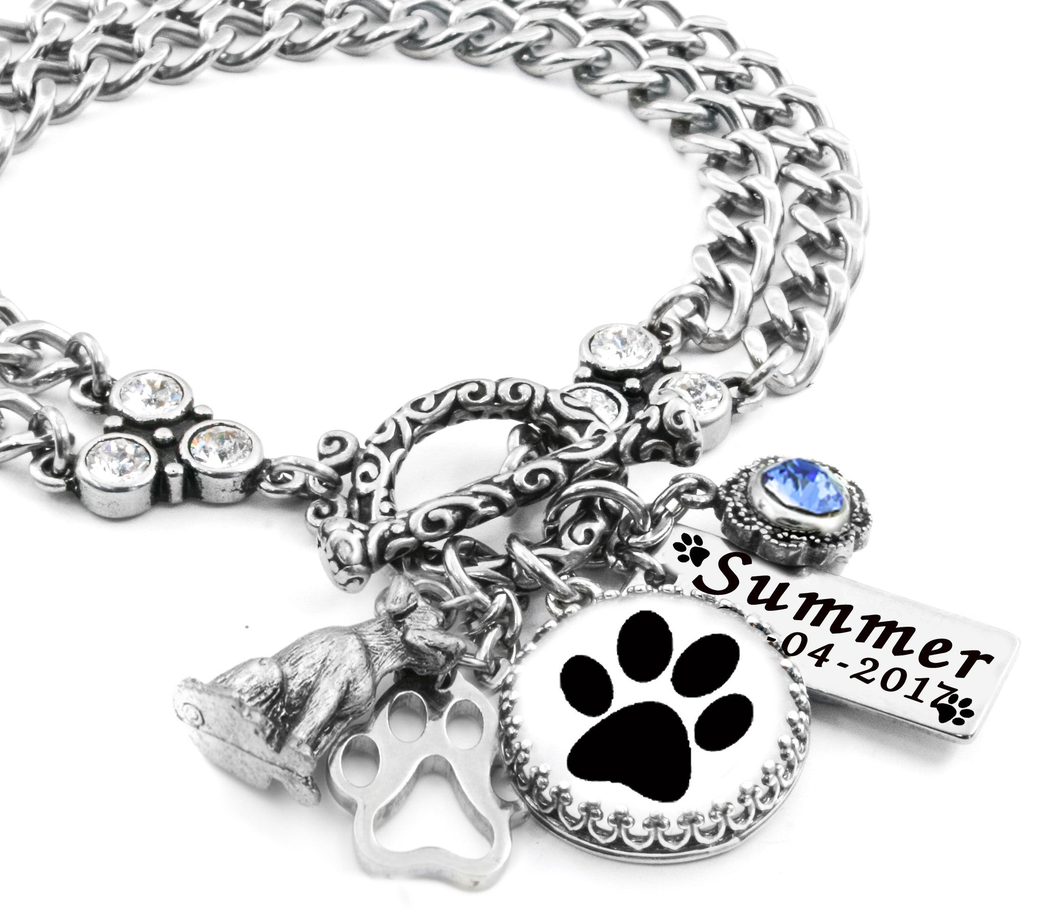 e2f21eb31 Paw Print Bracelet, Pet Keepsake, Dog Paw Print, Personalized Paw ...
