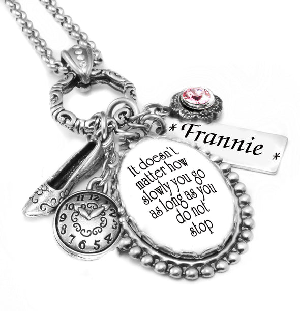personalized necklace with quote