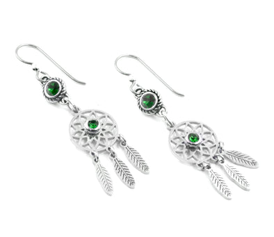 Silver Dream Catcher Earrings