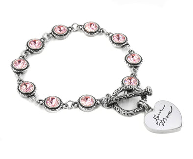 Personalized Signature Crystal Bracelet