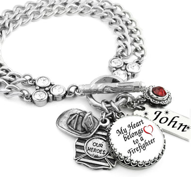 fire fighter charm bracelet