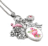 Pink Flamingo Charm Necklace