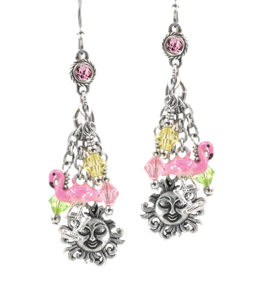 Flamingo Charm Earrings