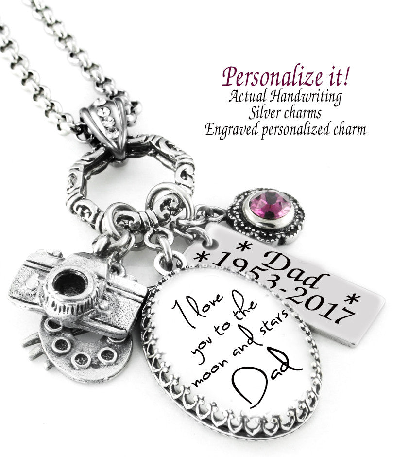 Penmanship pendant necklace personalized memorial handwriting penmanship pendant necklace personalized memorial handwriting jewelry blackberry designs jewelry aloadofball Images