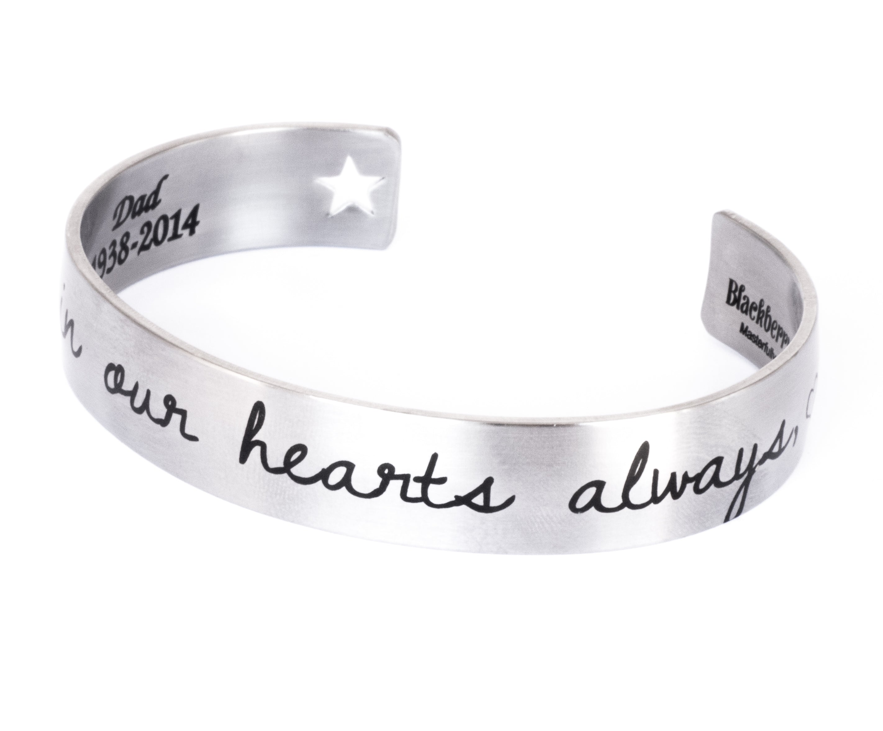 e4af3741dbc1b Memorial Cuff Bracelet with actual Handwriting -