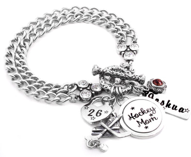 hockey mom bracelet