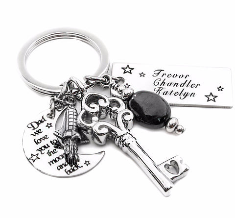 childrens name keychain