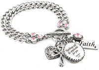 Personalized Bible Verse charm bracelet in stainless steel