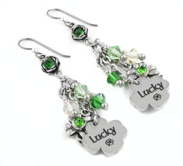 irish clover earrings