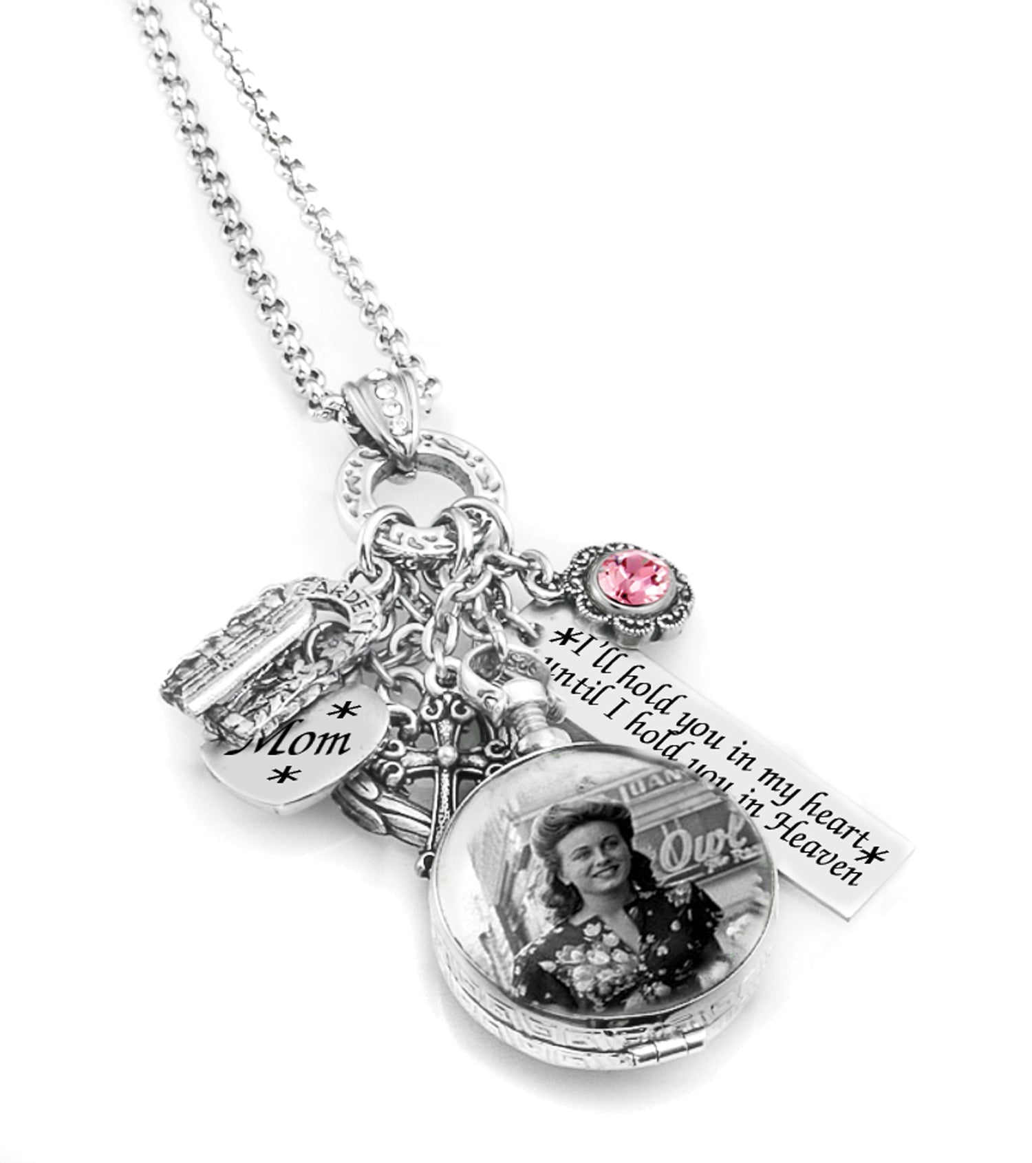 personalized charm necklace personalized mother s locket custom