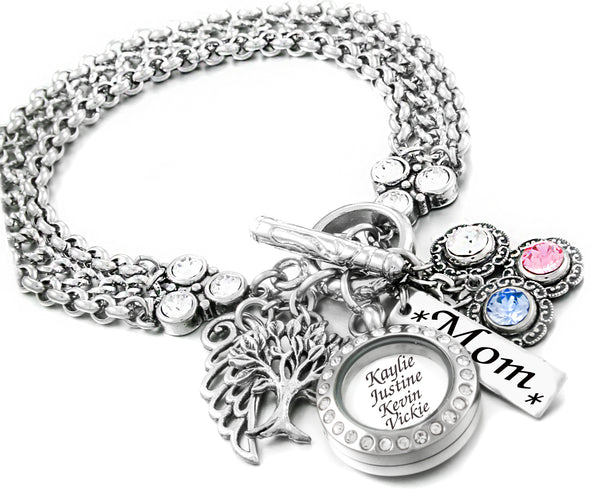 mothers locket bracelet