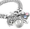 Mother's Locket Bracelet with Birthstones