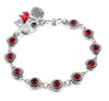 Ruby Bracelet with Charms