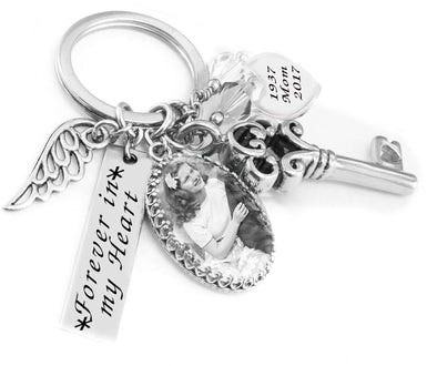 Personalized Memorial Photo Keychain