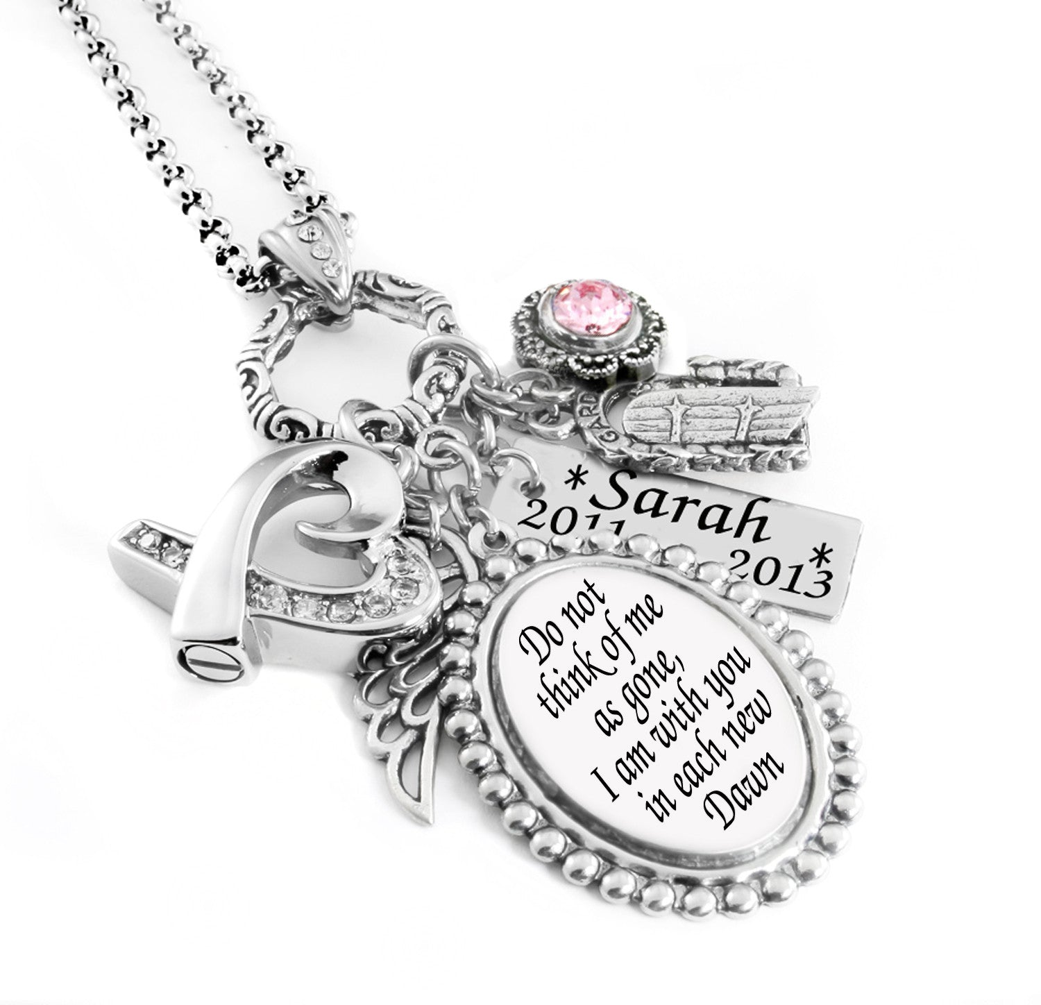 silver by star sfdesigns memorial products necklace lucky product