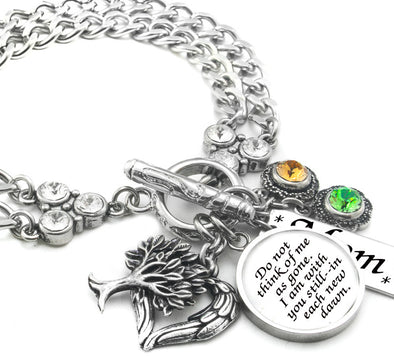 Memorial Bracelet, Personalized Memory Jewelry sterling silver