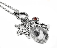 Custom Photo Necklace with Engraving