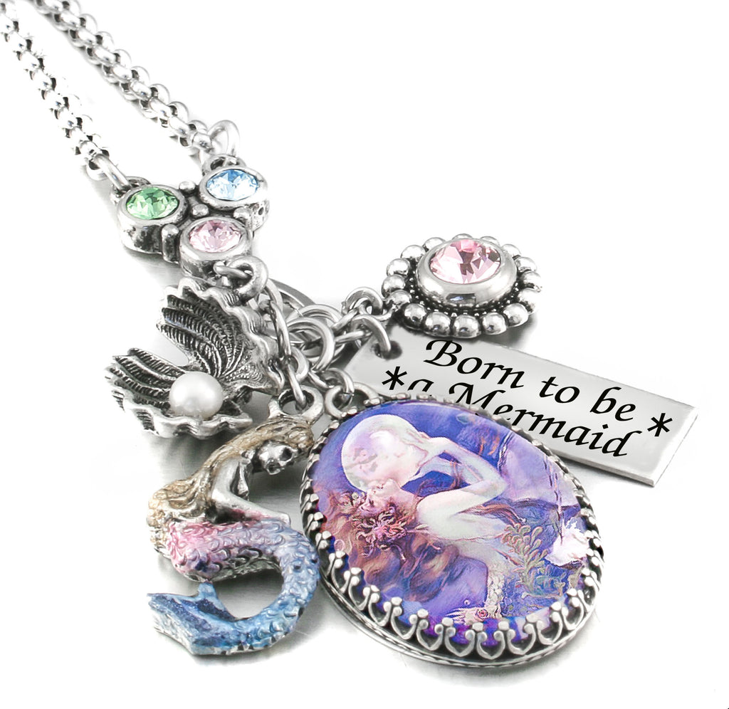 mermaid_necklace_charms_handmade_purple_blue_pink_vintage_image