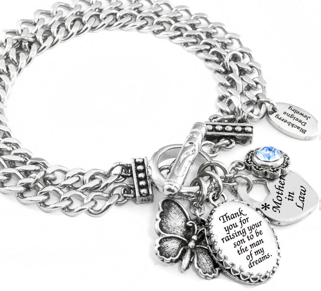 mother of the groom bracelet, mother in law jewelry