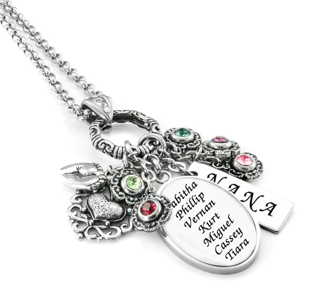Birthstone Earrings Ideas: Personalized Mother's Necklace Handmade With Childrens