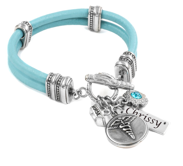 personalized nurse bracelet