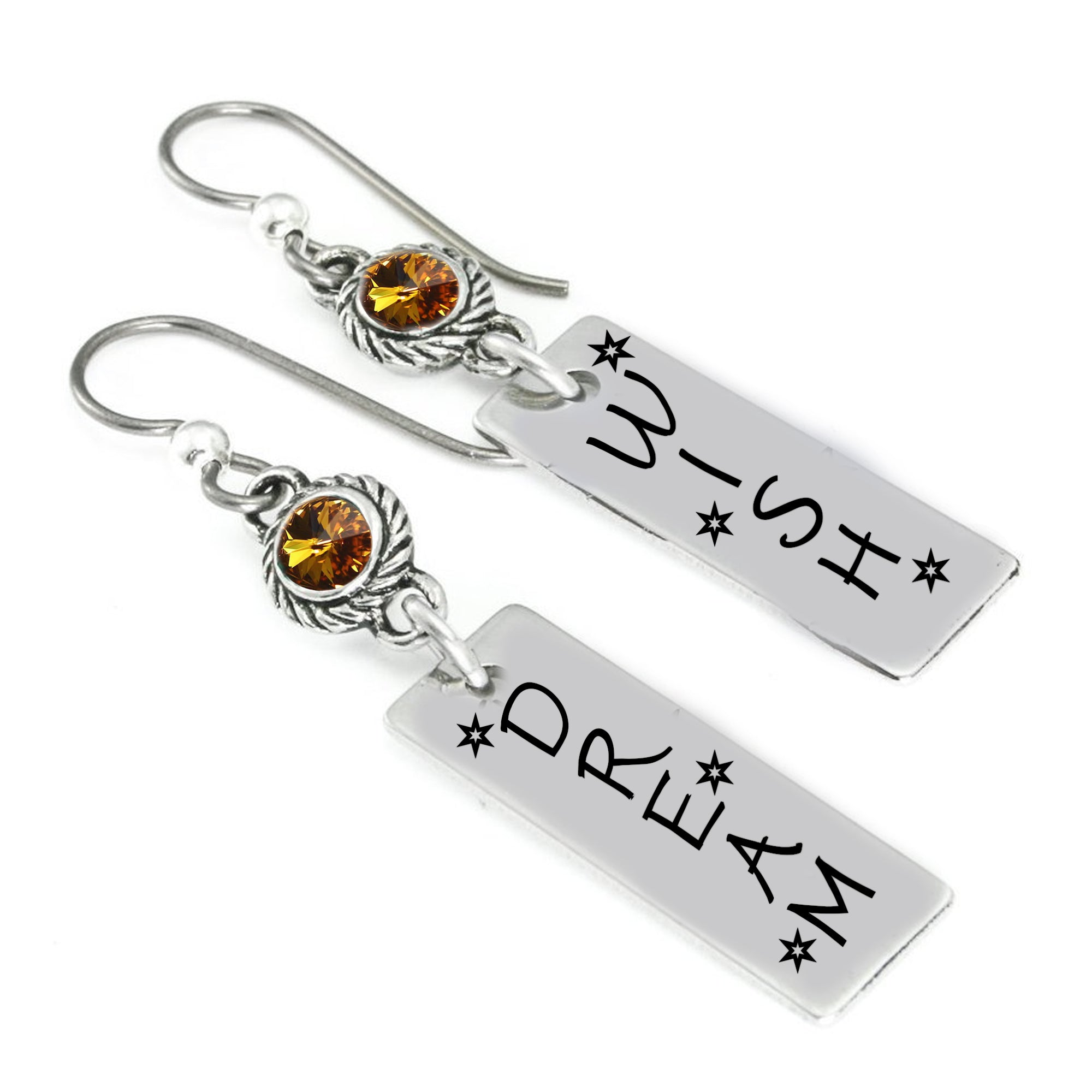 7c5fa3923a1281 Crystal Birthstone Earrings Handcrafted to never tarnish with Swarovski  crystals – Blackberry Designs Jewelry
