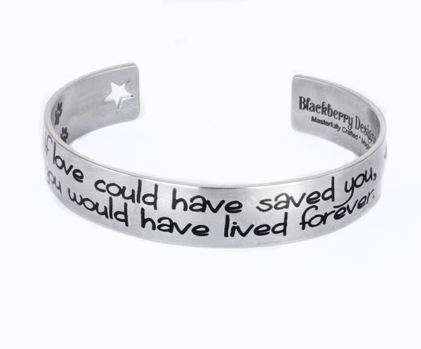 pet memorial bracelet, dog, cat, horse