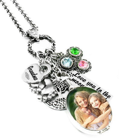 Mother's or Grandmother's Sterling Silver Reversible Locket