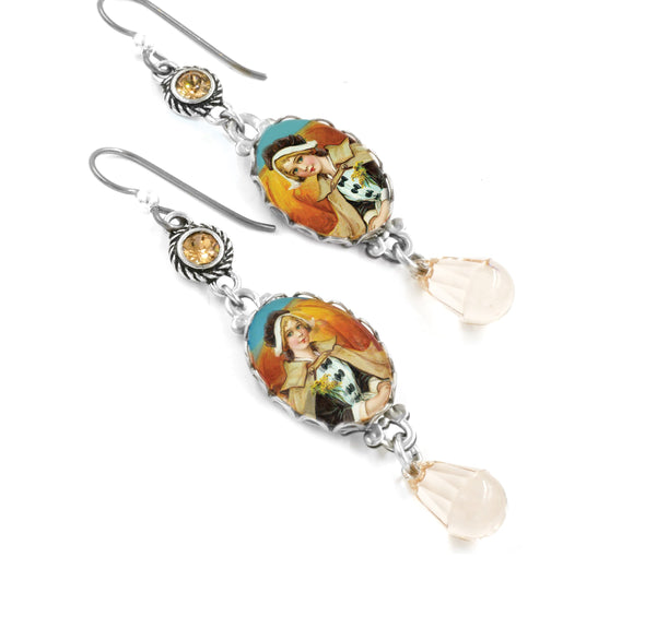 pilgrim thanksgiving earrings