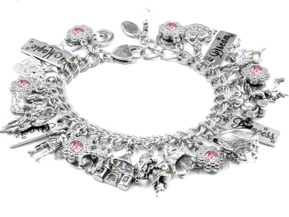 Personalized Girls Princess Charm Bracelet