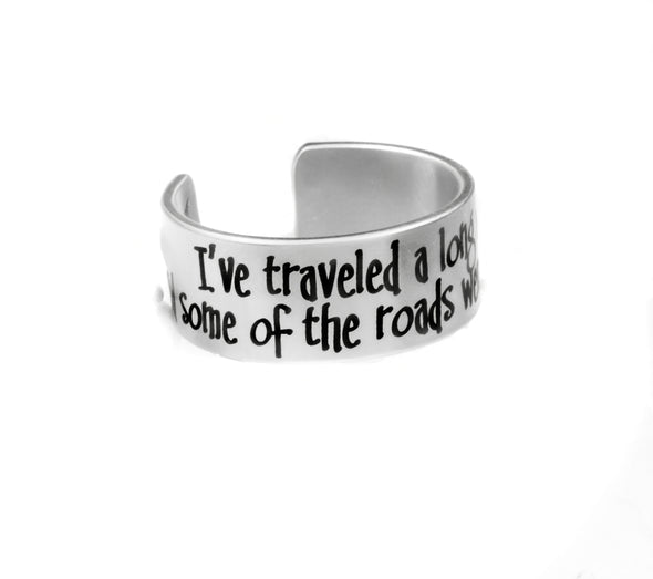 Engraved Quote Cuff Ring