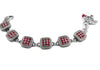 Ruby Red Crystal Bracelet