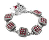 Ruby Red Swarovski Crystal Bracelet