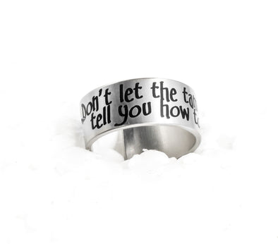 Personalized Engraved Quote with Silver Ring