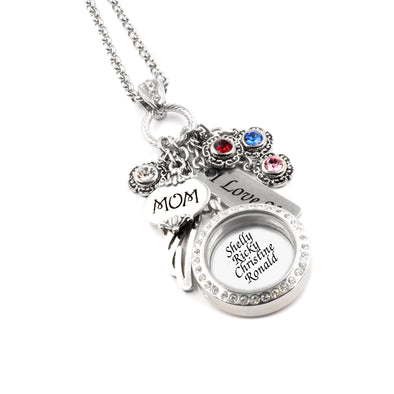 mothers locket with childrens names